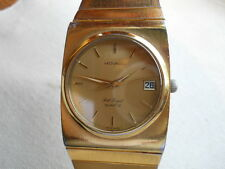 RAREST VINTAGE,1974,ZENITH-MOVADO PORT ROYAL,SWISS QUARTZ MOV, GP / SS, SERVICED