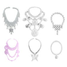 6pcs Fashion Plastic Chain Necklace For Barbie Doll Party Accessories S2