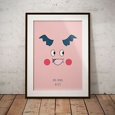A4 Pokemon Go Mr Mime 122 Print Poster Gift Present Japanese Anime Game