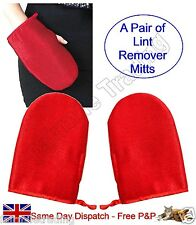 2X Lint Remover Mitts Clothes Care Glove Fluff Dust Hair Pet Cat Dog Fur Dandruf