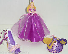 Disney Princess Rapunzel Shoe Hat Gown Figurine Ornament Theme Parks Lot of 3