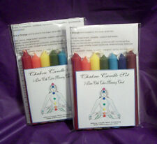7 Pc. Chakra Candle Set W/Color & Meaning Chart - Wicca Pagan Occult Witchcraft