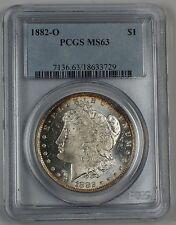 1882-O/O Morgan Silver Dollar Coin PCGS MS-63 Rim Toned (A)