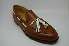 Crockett and Jones Langham Loafer Shoes in Tan Burnish Calf size UK 10EX