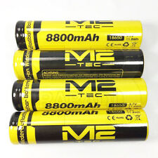 4 x LITHIUM ION PILE 3,7 V 8800 mAh Type 18650 Li - ion 65 x 18 mm BATTERIE ACCU