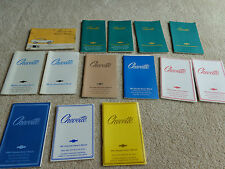 LOT of  13 Chevy Chevette Owners Manuals 1970's 1980's 76 - 87 PRISTINE