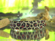 Kirks Folly angel goddess  Mist Sparkle bracelet  lepoard pattern red blk clear