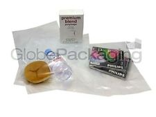 "500 x CLEAR 12x18"" POLYTHENE PLASTIC FOOD GRADE BAGS 12"" x 18"" 100 GAUGE *24HRS*"