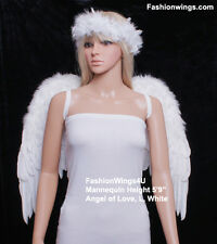 FashionWings Large Wingspan Unisex Costume Feather Angel Wings Black White Red
