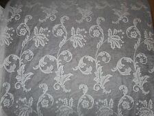 "Sears~Two Panels each 42"" x 86"" ~Beige Floral Design~100% Polyester~NEW~No Pkg"