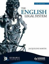 The English Legal System by Jacqueline Martin (2010, Paperback)