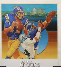 3 LOT VINTAGE SEALED 1983  POSTER SAN DIEGO CHARGERS DAN FOUTS NFL