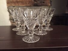 6 WATERFORD CRYSTAL TRAMORE LIQUEUR/CORDIAL GLASSES
