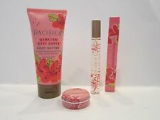 New!! Pacifica Hawaiian Ruby Guava Solid Perfume& Rollerball  & Body Butter Set!