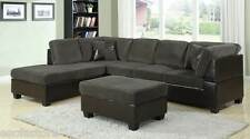 Connel Olive green Sectional Sofa w/2 Pillows 2 Pc Living room furniture couch