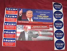 Donald Trump For President Set of 10 Stickers and Two Brochures