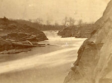 C. POLLOCK & J. BACHELDER STEREOVIEW KENNEBEC VALLEY CARATUNK FALLS SOLON MAINE