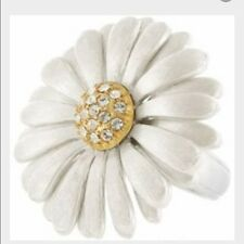 Brighton Dazy Silver Petal Ring NWT Size 5 Brushed Gold & Silver Flower.