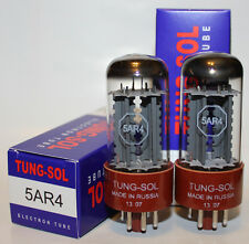 Matched Pair of Tung Sol 5AR4 / GZ34 rectifier tubes, brand NEW, Reissue !!!