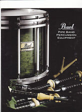 VINTAGE MUSICAL INSTRUMENT CATALOG #10612 - 2000  PEARL DRUMS - PIPE BAND