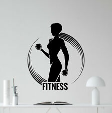 Fitness Wall Decal Sport Girl Woman Gym Poster Vinyl Sticker Club Decor 157hor