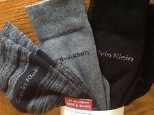 Calvin Klein Combed Cotton Socks Men's 7-12, 4-packs Gray/Black/Blue/Red Designs