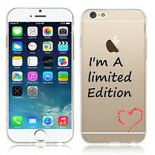 COVER I'm A Limited Edition IN TPU SOTTILE solo 1 mm TRASPARENTE PER IPHONE 6 6s
