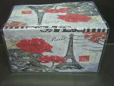 EIFFEL TOWER PARIS FRANCE BLACK & WHITE RED ROSES IMAGE 1  VINYL CHECKBOOK COVER