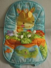 Replacement Seat Pad Cushion Fisher Price Precious Planet Giraffe Bouncer EUC