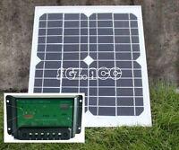 10W 12V solar panel battery charger for motorhome, caravan, camper, boat, car