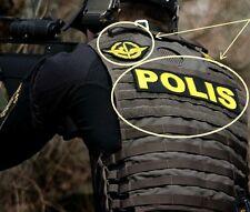 """SWEDEN SWEDISH POLISEN POLIS PIKETEN PIKETENHETEN vel©®Ø SWAT + 9"""" BACK INSIGNIA"""