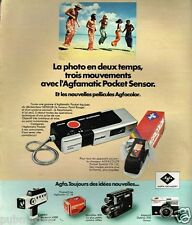Publicité advertising 1975 Appareil photo Agfamatic Pocket sensor Agfa Gevaert