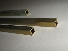 Barra Tubo Quadrato 10x10/8 mm in OTTONE trafilato lunghezza 1 Mt. TORNIO/FRESA