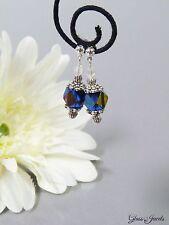 Glass Jewels Ohrringe Ohrstecker Silber Glas Perlen Bunt Vintage #C073