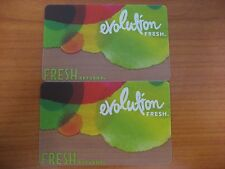 Lot of 2 Starbucks Evolution Fresh gift cards NEW