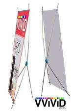 "X banner stand sign display telescopic up to size 31 x71"" C CL-X-C with free bag"