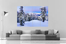 MONTAGNES SNOW MOUNTAINS 03 Wall Art Poster Grand format A0 Large Print
