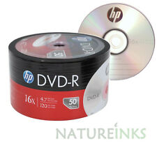200 Genuine HP Silver top blank NON printable DVD-R 16x 4.7GB Shrink wrap
