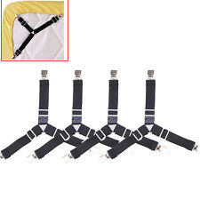 4x Triangle Bed Sheet Mattress Pad Corner Clips Strap Gripper Suspender Fastener