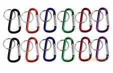 "Lot of 12 Carabiners 2.25"" Aluminum Hook Lock Keychain Key Ring Spring Belt Clip"