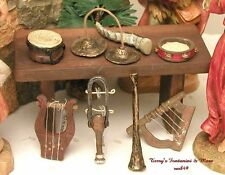 "FONTANINI ITALY 5"" 8PC MUSICAL INSTRUMENTS NATIVITY VILLAGE ACCESSORY 51181 NIB"