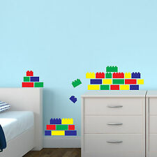 Lego Bricks Wall Stickers x40 Blocks Decal Transfer Decoration for Bedroom