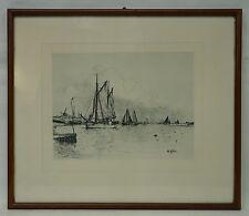 GEORG WOLTERS (1860-1933) SEGELSCHIFFE AUF DER ELBE - HAMBURG MARINEMALER