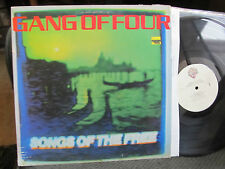 GANG OF FOUR Songs of The Free vinyl LP w/lyric 1982 Man in a Uniform art punk!