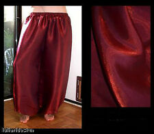 Harem Pants Belly Dance Dark Red w/ Red Glow
