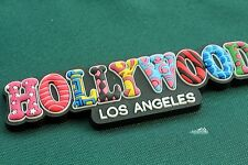 Hollywood, Los Angeles, United States, Colorful Letters Rubber Fridge Magnet