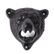 Cast Iron Bear Bottle Opener Wall Mounted Kitchen Pub Bar Beer Opener Bars