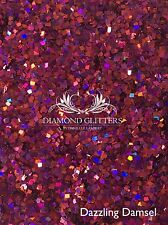Square Mixed Nail Glitter Nail art Red Purple Mix 6g Bag Dazzling Damsel
