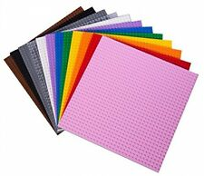 Rainbow 10 x 10 Stackable Base Plates  w 240 Building Bricks LEGO® Compatible