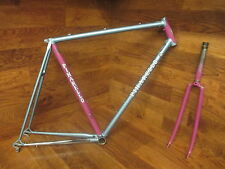 VINTAGE PINARELLO OLIMPICO ITALIAN LUGGED CRO-MO STEEL ROAD BIKE FRAME SET 55CM